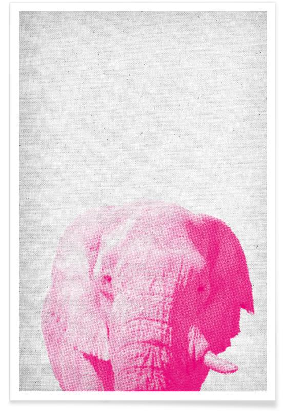 Elephant 02 as Premium Poster by Froilein Juno | JUNIQE