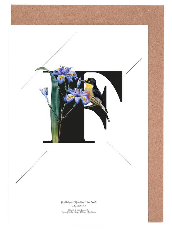 Botanical alphabet f as greeting card set by froilein juno juniqe home stationery greeting cards m4hsunfo