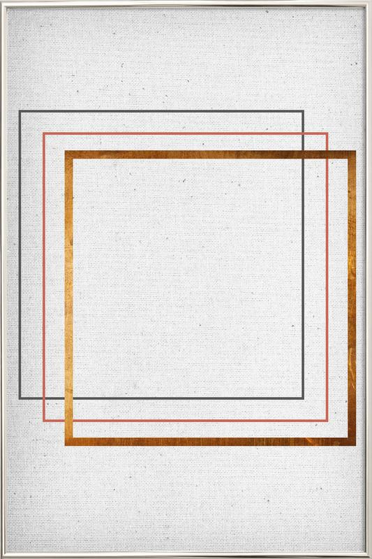 Square as Poster in Aluminium Frame by Froilein Juno | JUNIQE