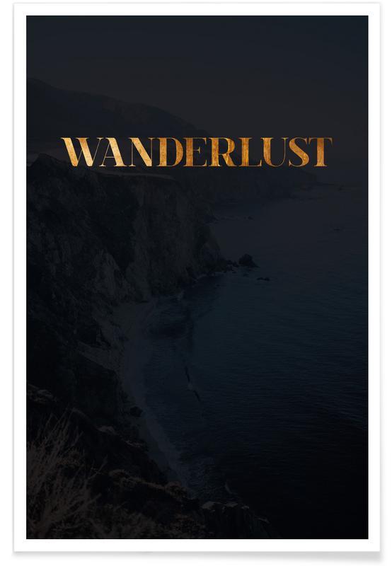 Wanderlust als premium poster von froilein juno juniqe - Wanderlust geschenke ...