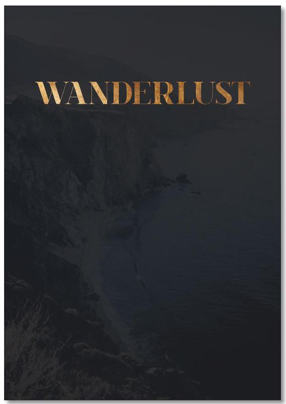Wanderlust als notizblock von froilein juno juniqe for Wanderlust geschenke