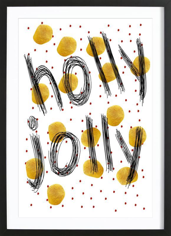 holly jolly als poster im holzrahmen von froilein juno juniqe. Black Bedroom Furniture Sets. Home Design Ideas