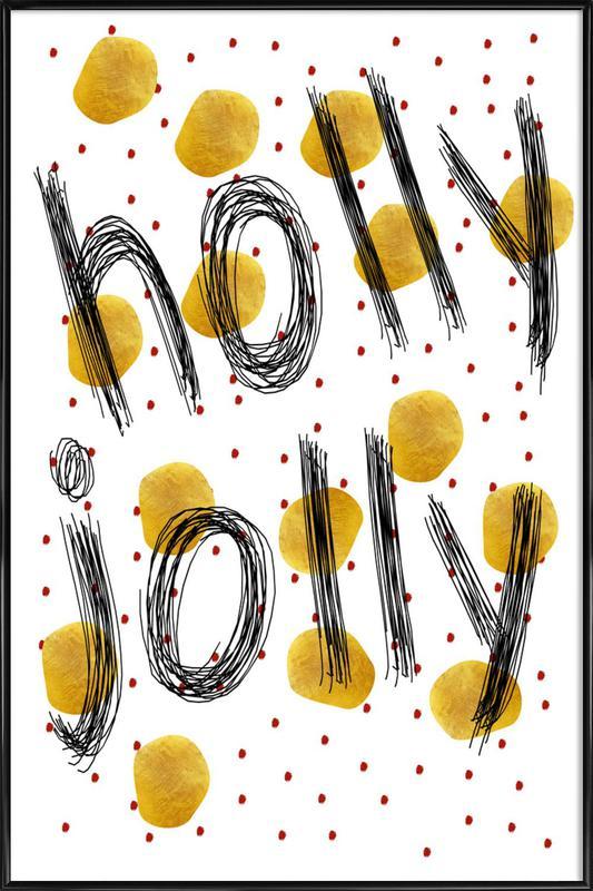 Holly Jolly als Poster im Kunststoffrahmen von Froilein Juno   JUNIQE