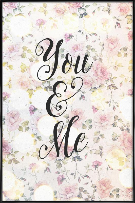 You And Me As Poster In Standard Frame By Treechild Juniqe