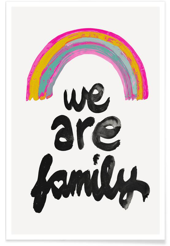 We Are Family As Premium Poster By Treechild Juniqe Uk