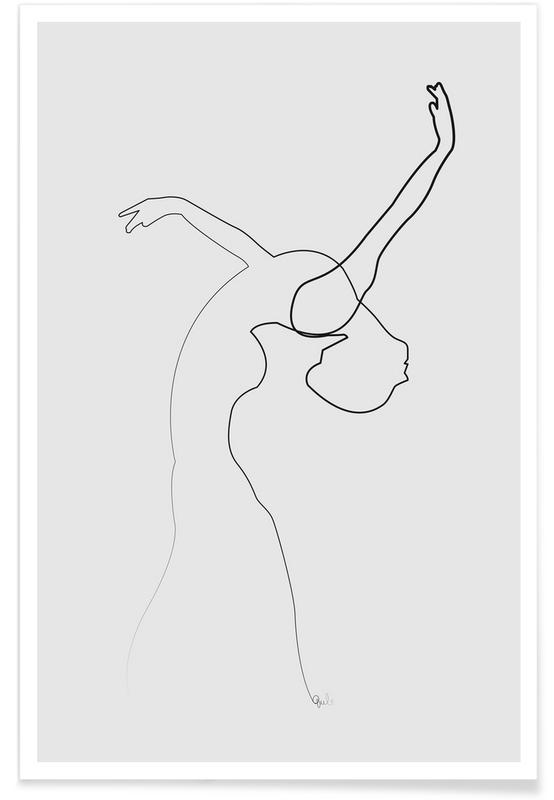 c7480d3f600 One Line Dancer as Poster by Quibe