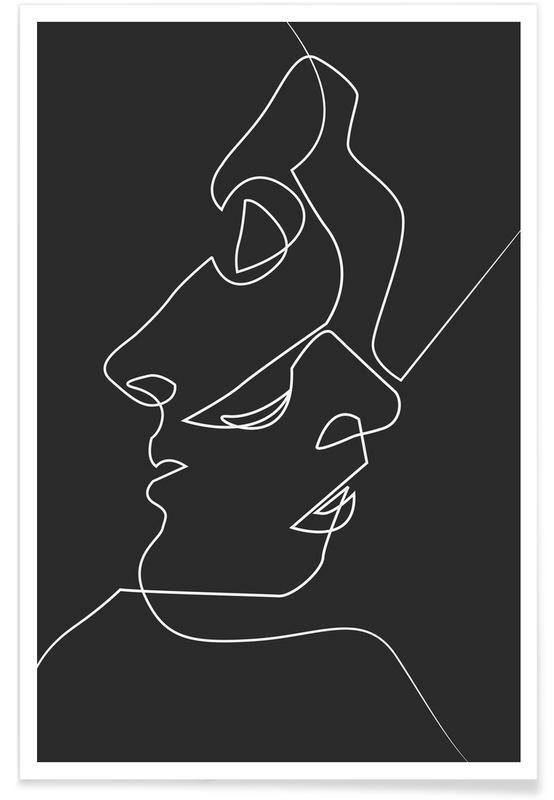 Close Noir As Premium Poster By Quibe Juniqe