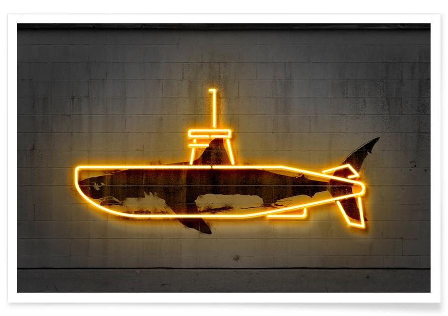 Yellow Submarine Als Poster Von Octavian Juniqe Ch