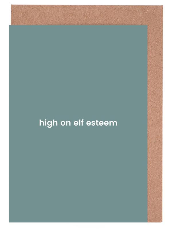 Elf esteem as greeting card set by juniqe juniqe m4hsunfo