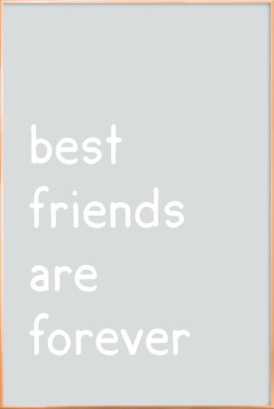 Friendship as Poster in Aluminium Frame by JUNIQE | JUNIQE