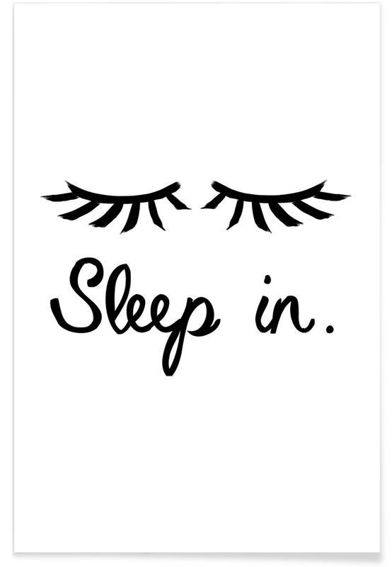 sleep in als poster von juniqe juniqe ch. Black Bedroom Furniture Sets. Home Design Ideas