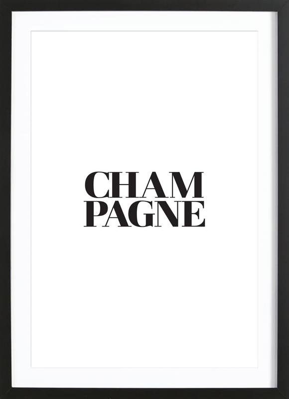 Champagne as Poster in Wooden Frame by JUNIQE   JUNIQE UK