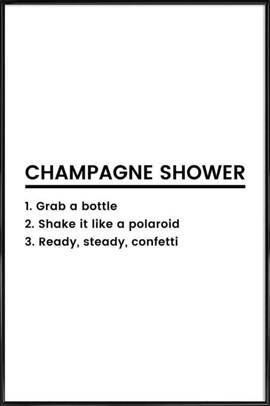 Champagne Shower Recipe as Poster in Standard Frame by JUNIQE | JUNIQE