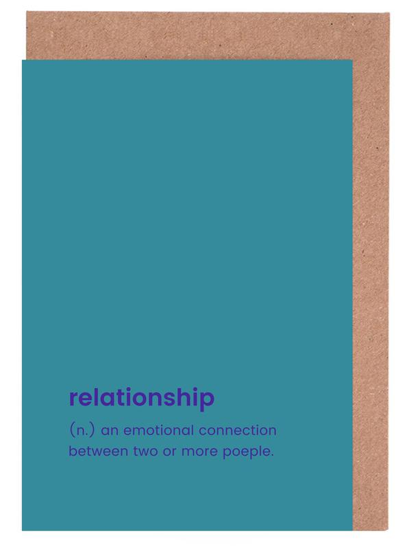 Relationship as greeting card set by juniqe juniqe home stationery greeting cards m4hsunfo