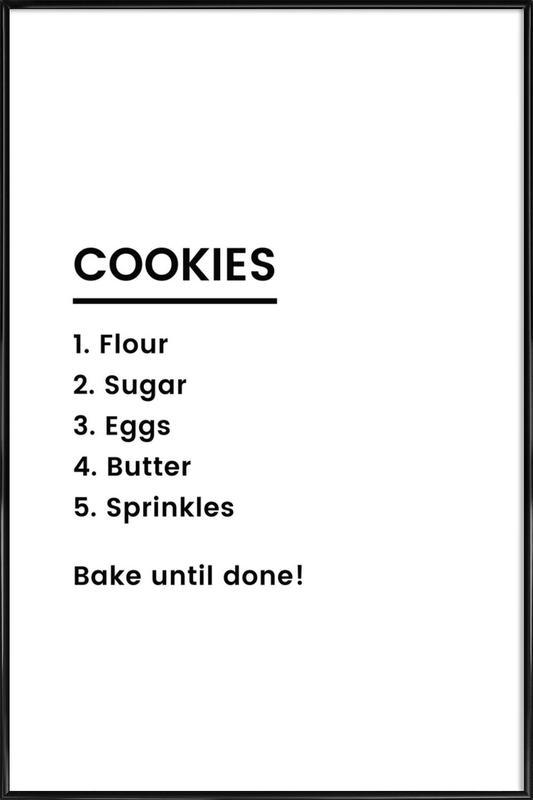 Cookie Recipe as Poster in Standard Frame by JUNIQE | JUNIQE