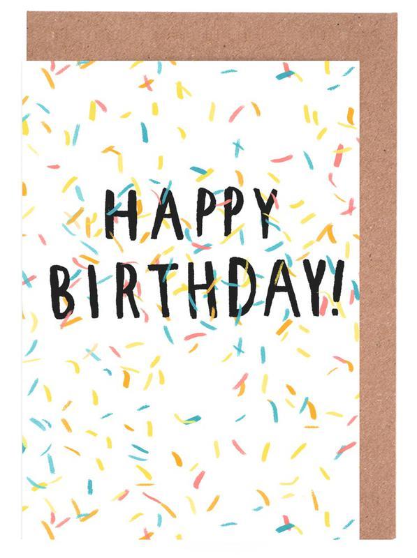 Happy Birthday Confetti As Greeting Card Set By Alex Foster Juniqe Uk