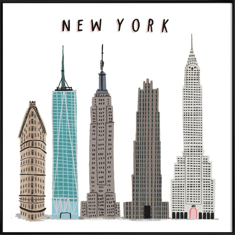New York Buildings as Poster in Standard Frame by Alex Foster ...