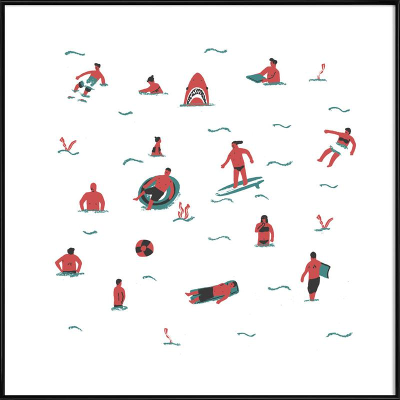 Swimmers as Poster in Standard Frame by Alex Foster | JUNIQE