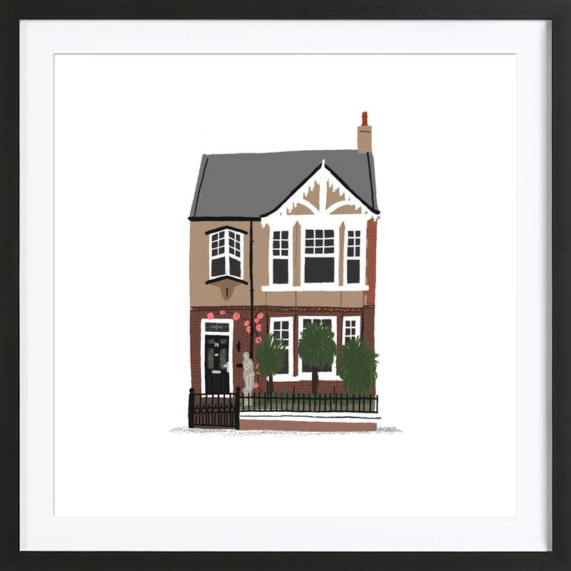 House 2 as Poster in Wooden Frame by Alex Foster | JUNIQE