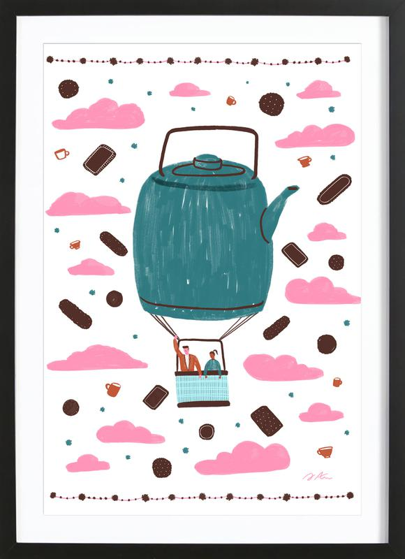 tea towel as poster in wooden frame by alex foster juniqe uk