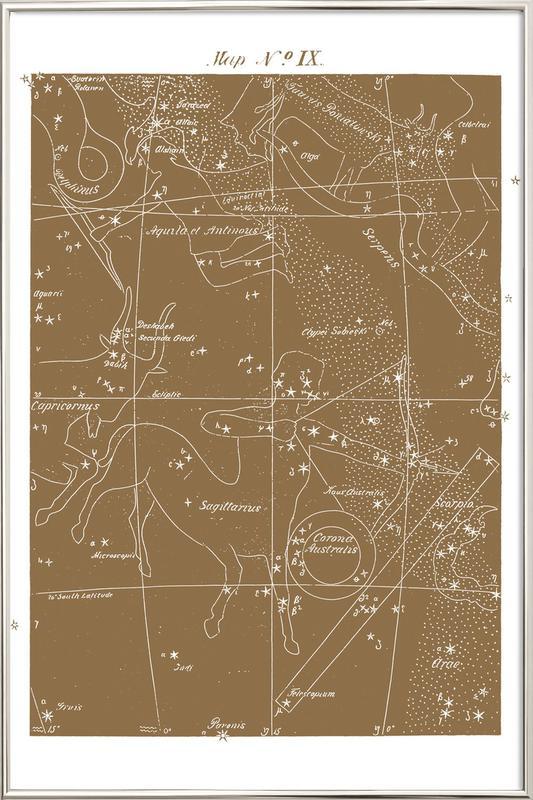 b7fe0bb0d536 Sagittarius Gold as Poster in Aluminium Frame by Astër