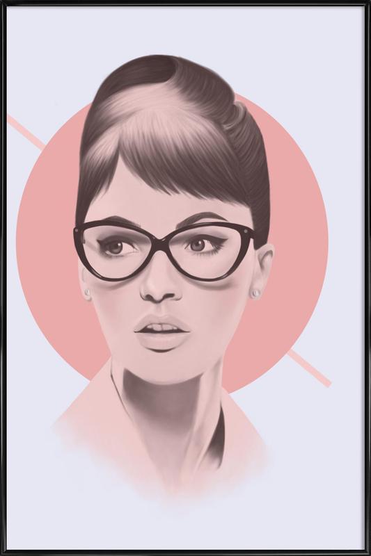 Vintage Glasses As Poster In Standard Frame By Polilovi