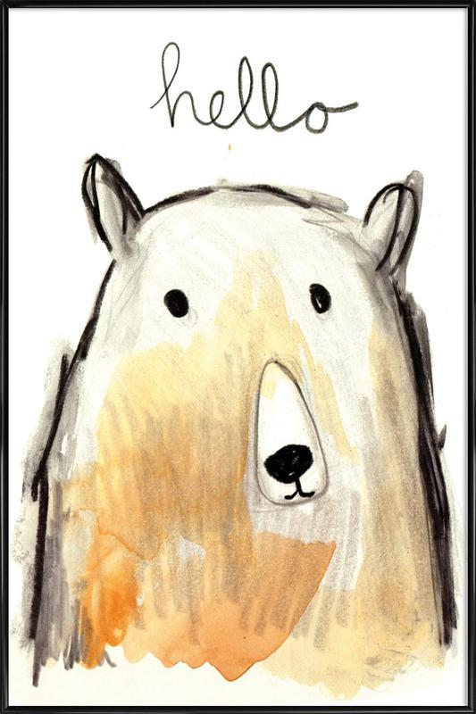 Hello Bear as Poster in Standard Frame by Farina Kuklinski | JUNIQE