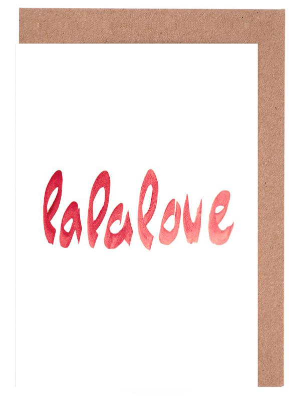 Lalalove type as greeting card set by farina kuklinski juniqe home stationery greeting cards m4hsunfo
