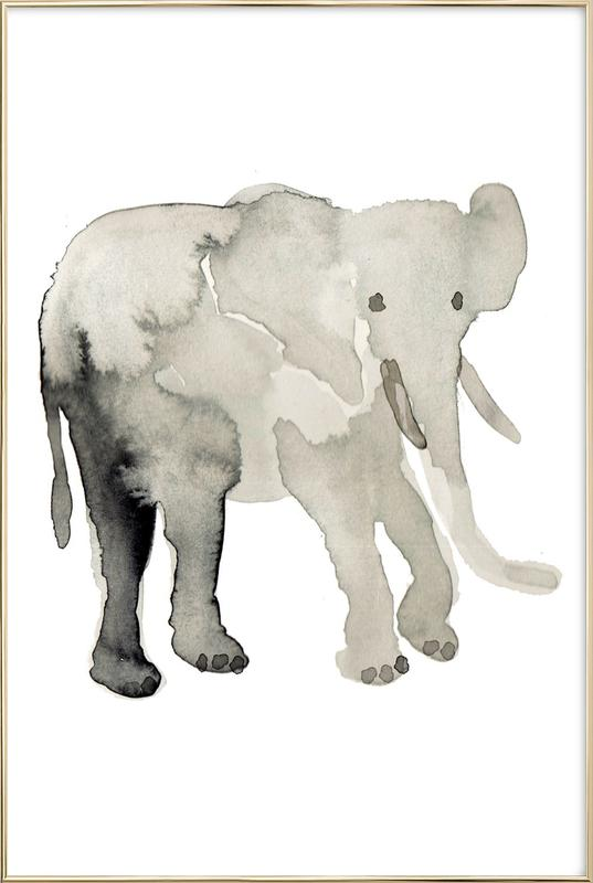 Elephant as Poster in Aluminium Frame by Farina Kuklinski | JUNIQE
