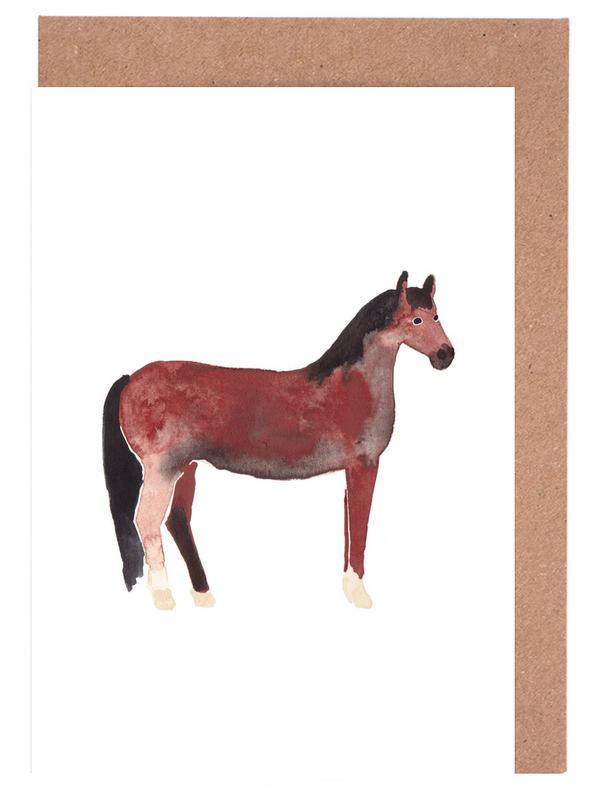 Horse as greeting card set by farina kuklinski juniqe m4hsunfo