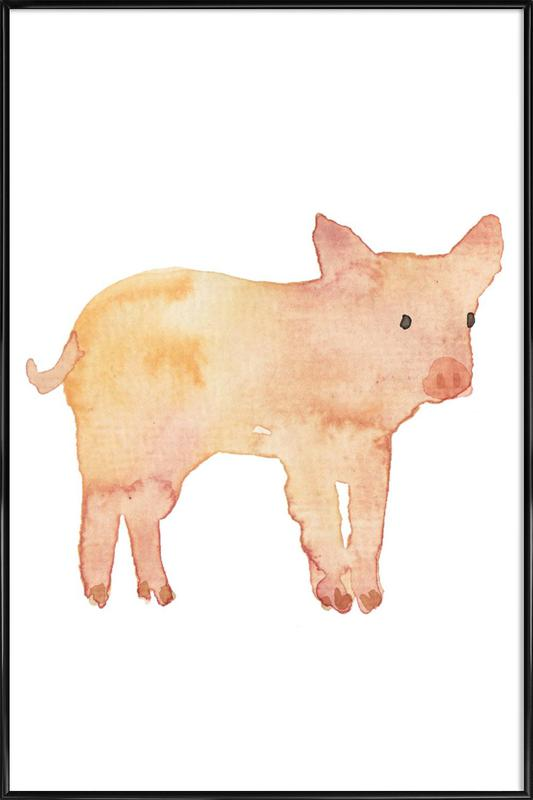 Pig as Poster in Standard Frame by Farina Kuklinski | JUNIQE