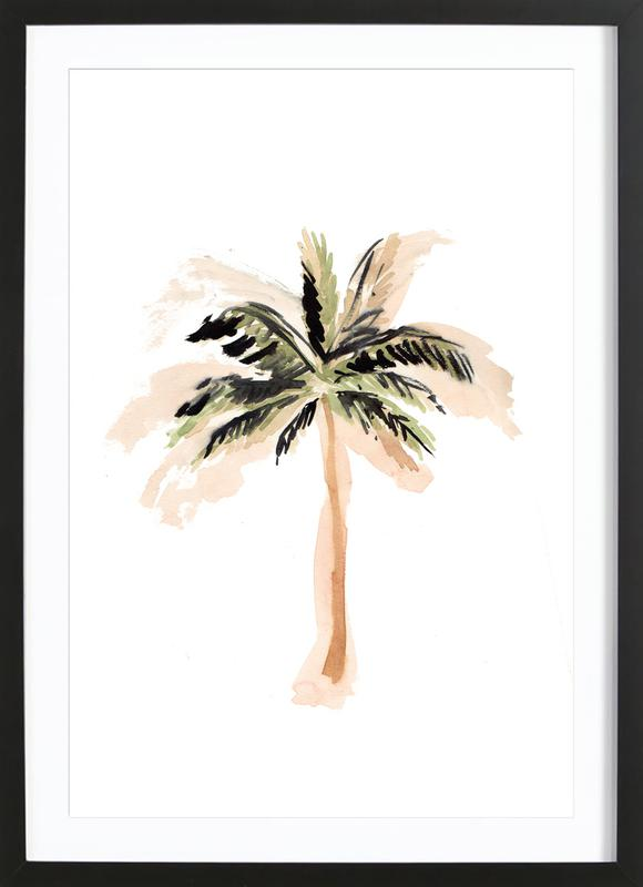 Palm Tree 3 As Poster In Wooden Frame By Farina Kuklinski Juniqe Uk