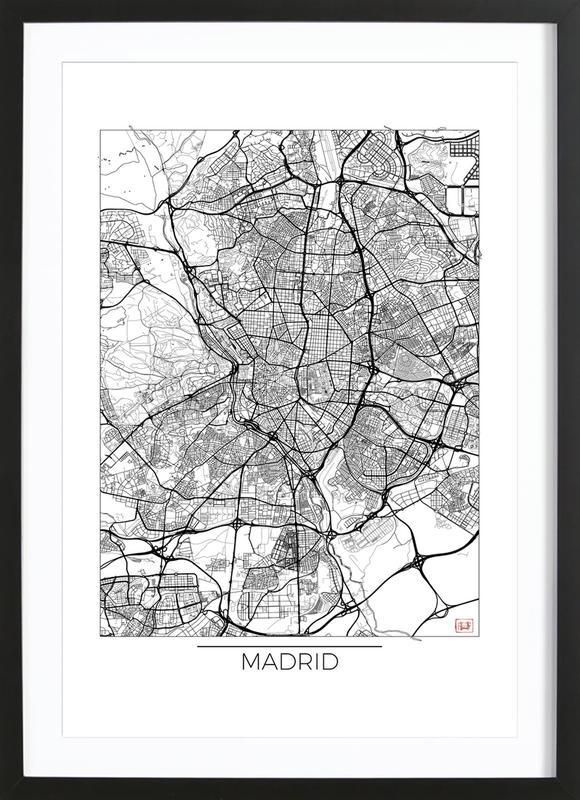 Madrid minimal als poster im holzrahmen von hubert roguski for Minimal art kunstwerke