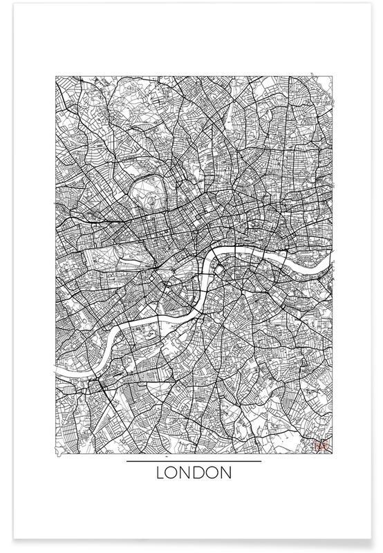 London minimal als premium poster von hubert roguski juniqe for Minimal art kunstwerke