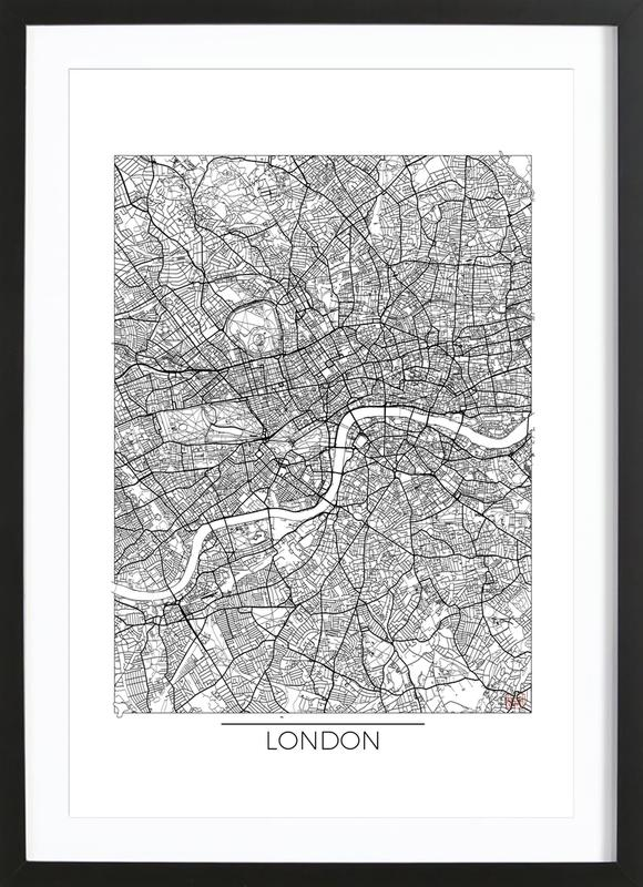 London Minimal as Poster in Wooden Frame by Hubert Roguski | JUNIQE