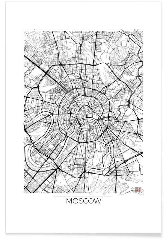 Moscow minimal en affiche premium par hubert roguski juniqe for Art minimal livre