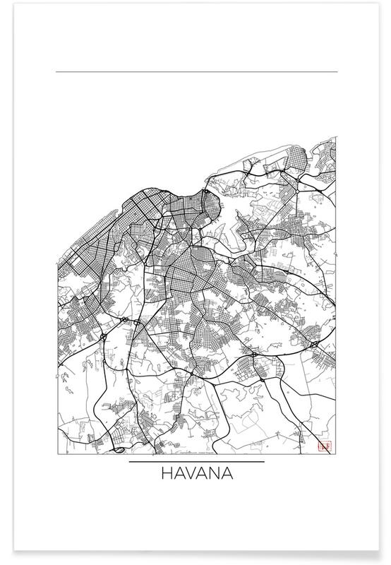 Havana minimal als premium poster von hubert roguski juniqe for Minimal art kunstwerke