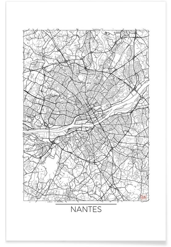 Nantes minimal en affiche premium par hubert roguski juniqe for Art minimal livre