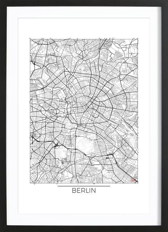 Berlin minimal als poster im holzrahmen von hubert roguski for Minimal art kunstwerke