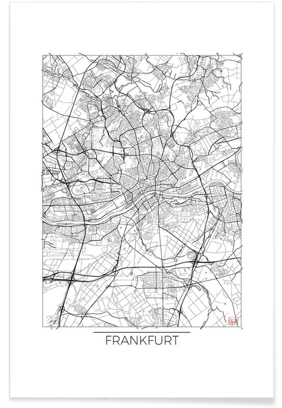 Frankfurt Minimal frankfurt minimal as premium poster by hubert roguski juniqe uk