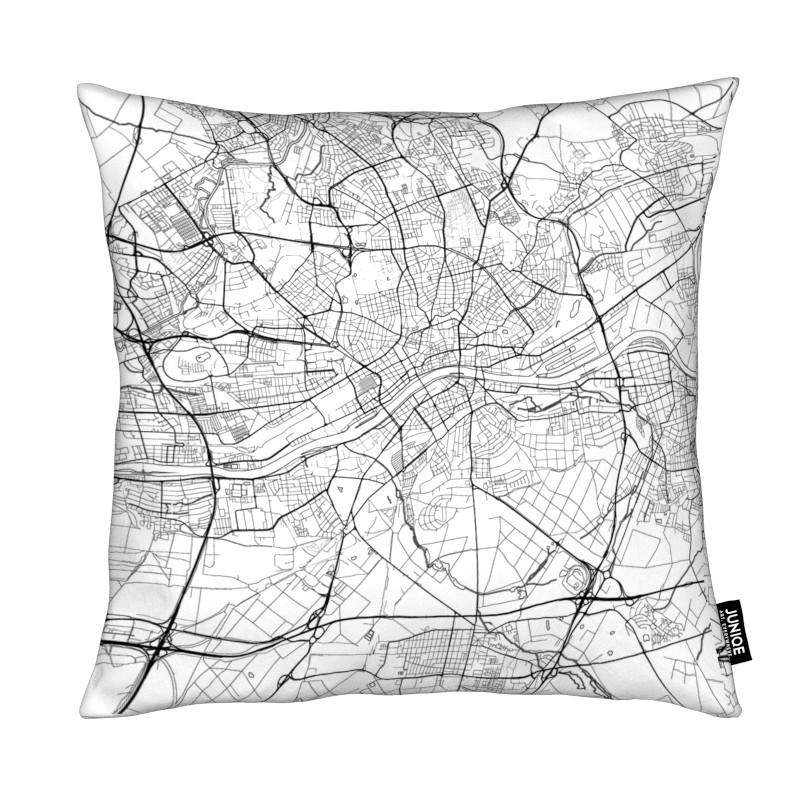 Frankfurt Minimal frankfurt minimal as cushion by hubert roguski juniqe