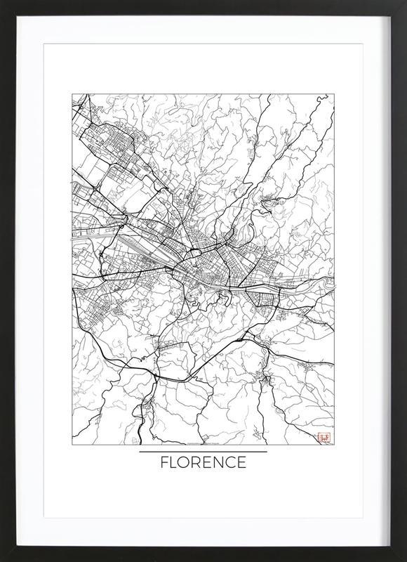 Florence minimal als poster im holzrahmen von hubert for Minimal art kunstwerke