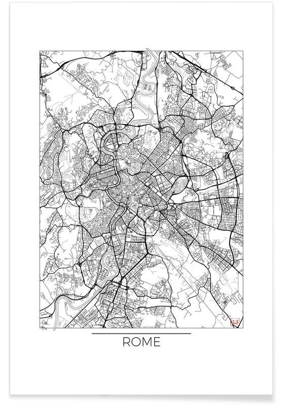 Rome minimal als premium poster von hubert roguski juniqe for Minimal art kunstwerke