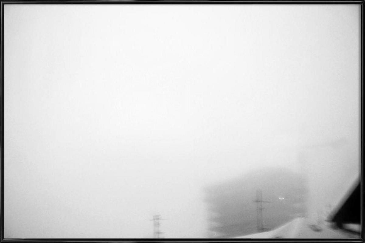 Reykjavík in the mist 2 as Poster in Standard Frame   JUNIQE