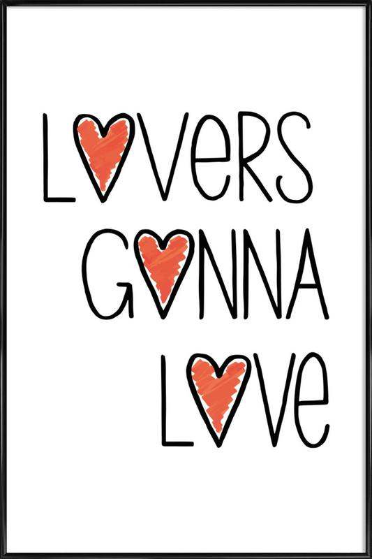Lovers Gonna Love as Poster in Standard Frame by Vreni Frost   JUNIQE