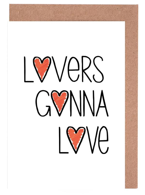 Lovers gonna love as greeting card set by vreni frost juniqe home stationery greeting cards m4hsunfo