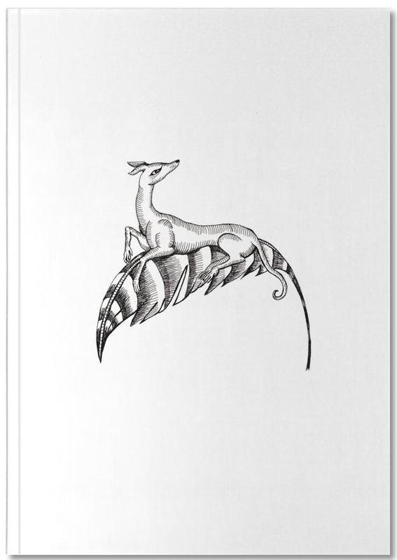 fly dog white als premium notizbuch von daniela roessler juniqe. Black Bedroom Furniture Sets. Home Design Ideas