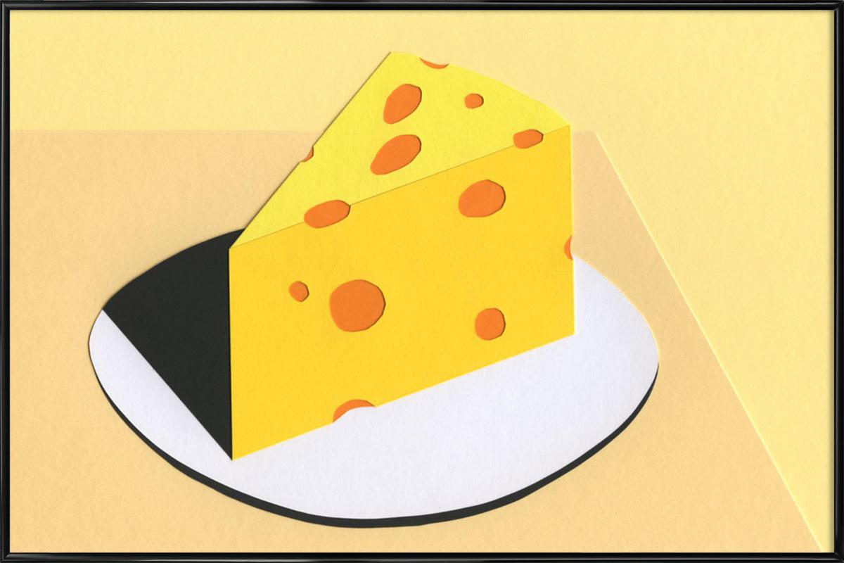 Piece Of Cheese as Poster in Standard Frame by Rosi Feist | JUNIQE