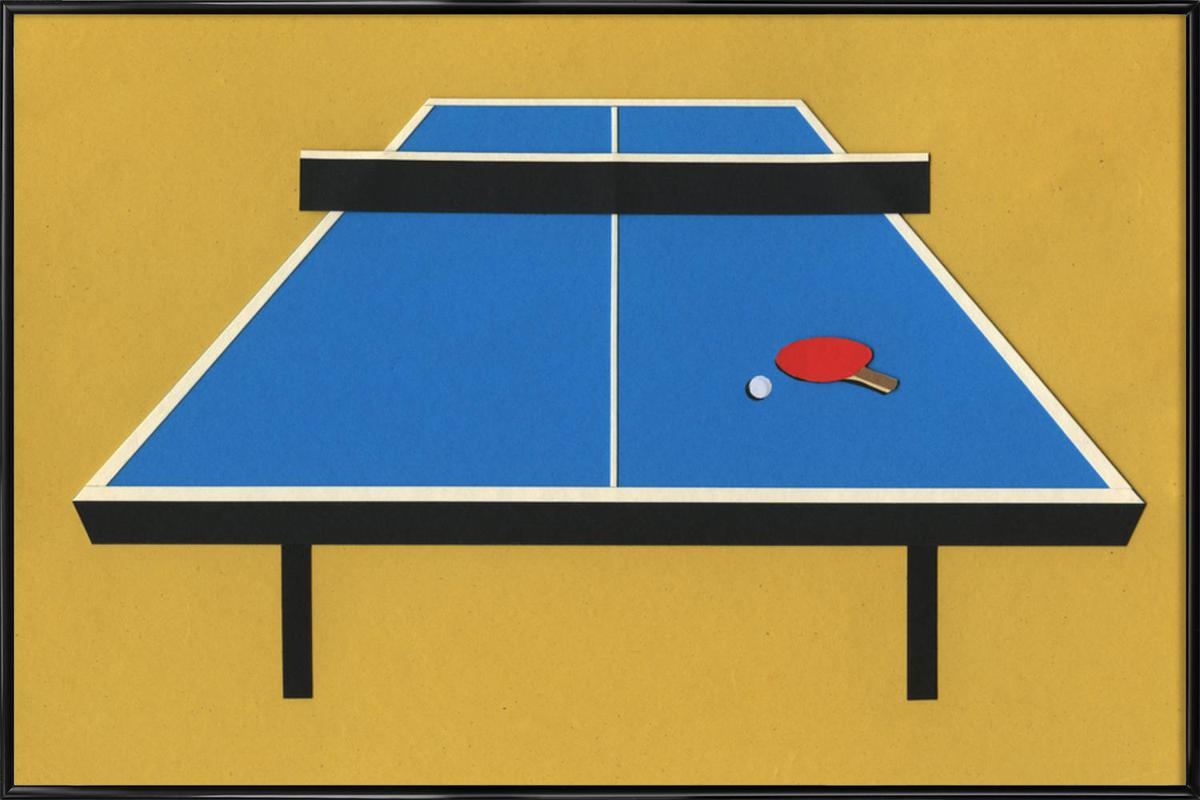 Ping Pong Table As Poster In Standard Frame By Rosi Feist | JUNIQE
