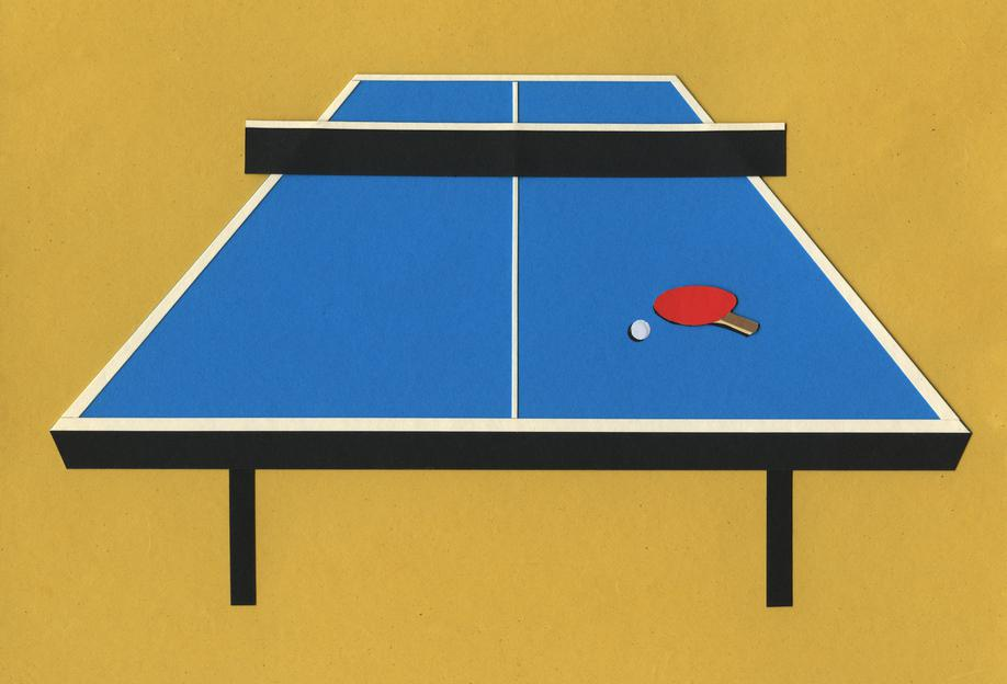 Ping Pong Table As Acrylic Glass Print By Rosi Feist Juniqe